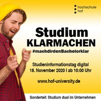 Studium KLARMACHEN - digitaler Hochschulinformationstag